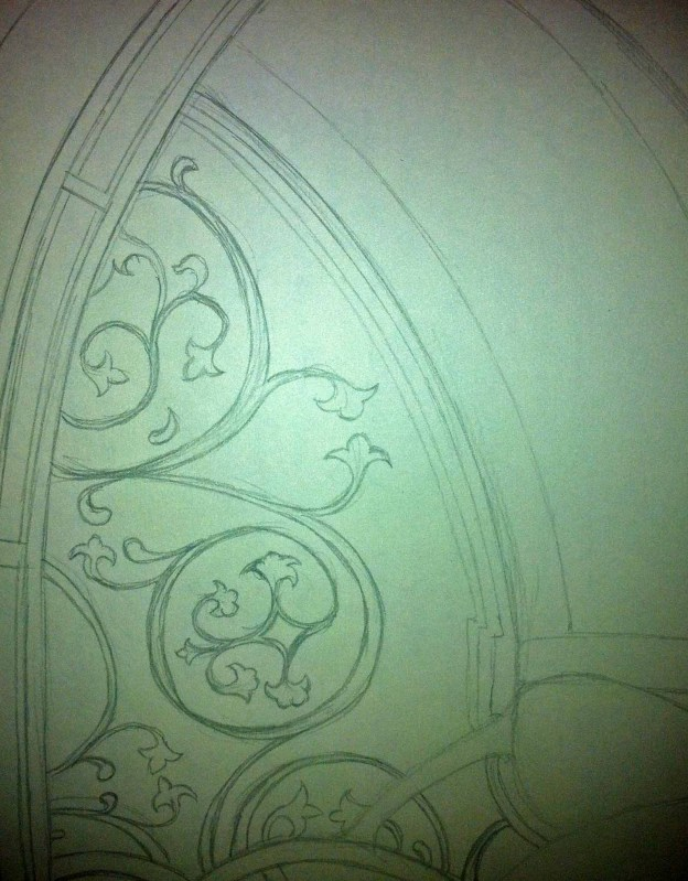 Stained Glass Window pencil draft