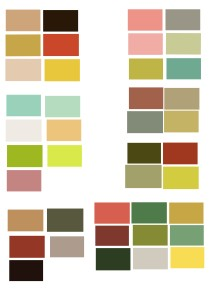 Mid century colour swatches