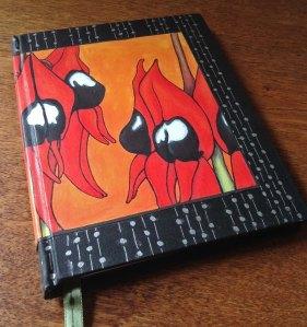 Case Binding Sturt Desert Pea Book A5 size