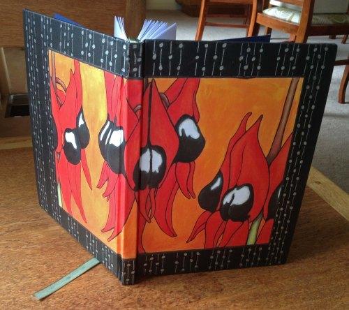 Case Binding Sturt Desert Pea Book A5