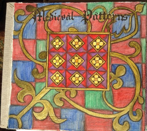 Medieval Patterns 1  Journal Page  Ink and watercolour pencil
