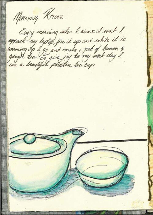 Morning cuppa Journal Page