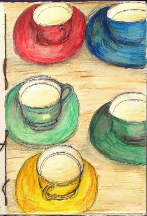 Retro Cups Journal Page Jul 14