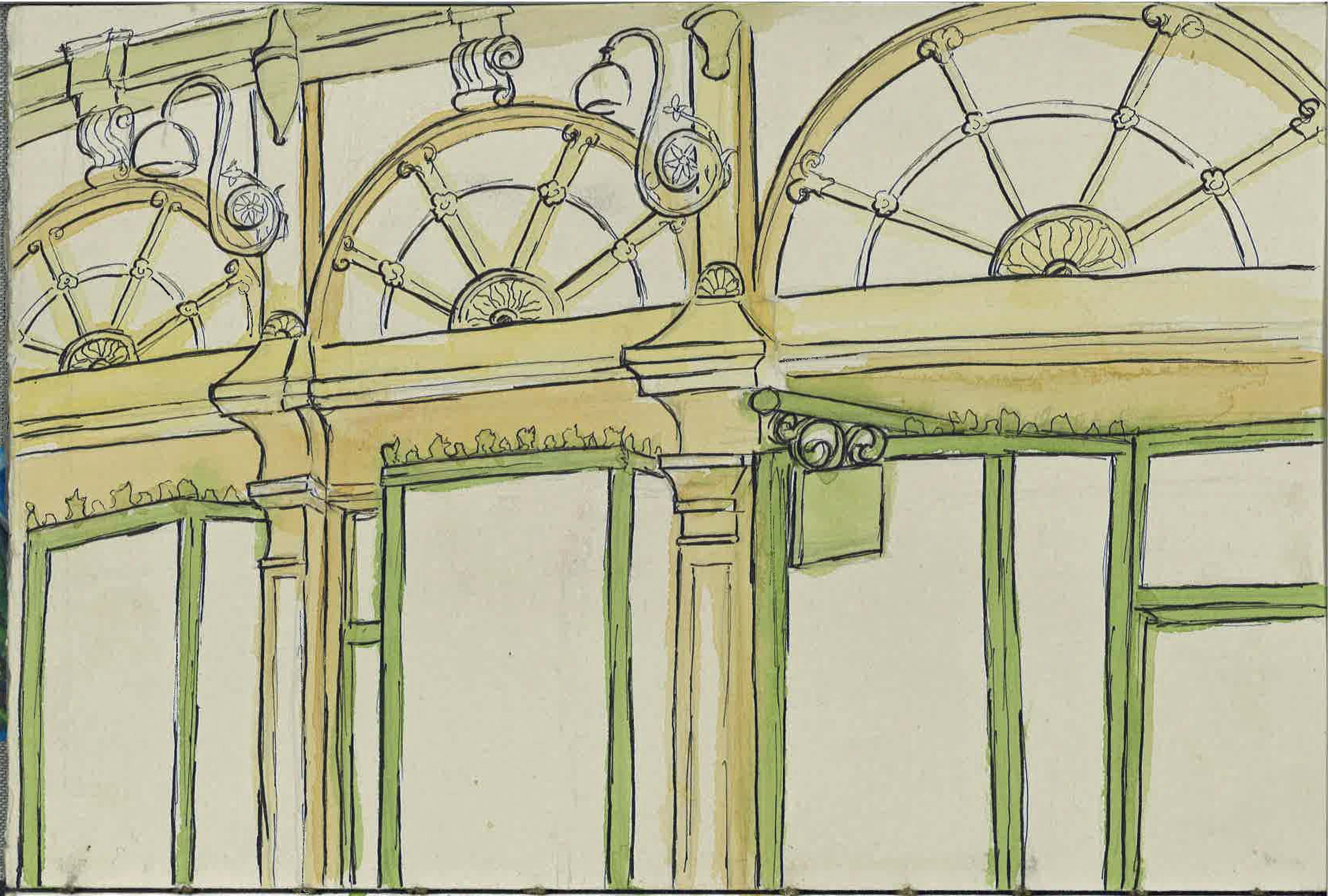 urban furniture melbourne. Royal Arcade July 14 Urban Sketching Watercolour And Ink Furniture Melbourne T