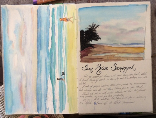 Seminyak Beach Sunrise Journal Page