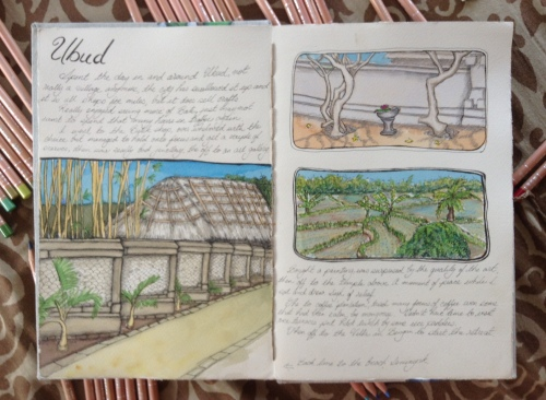 Ubud journal page