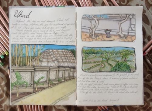 Ubud journal page