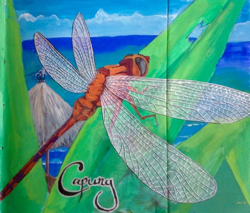Dragon fly Bali Journal Acrylic and ink