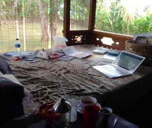 My studio at Bingin