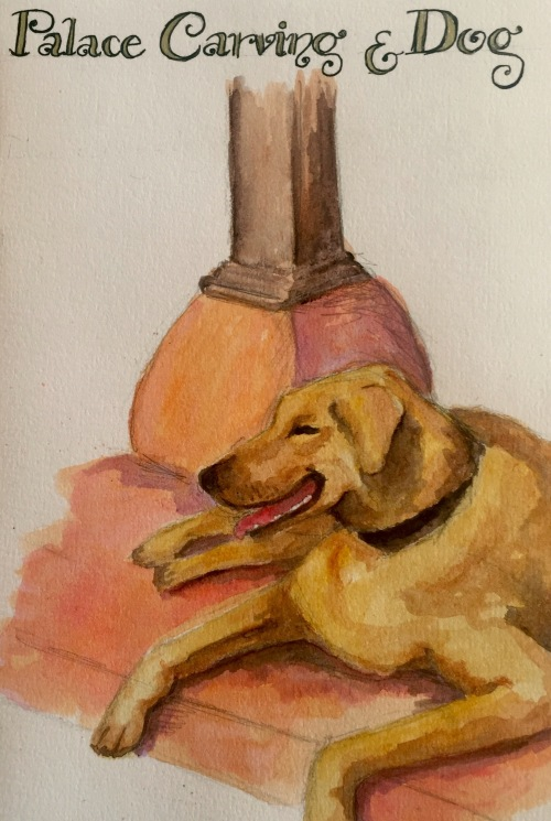 Palace Dog,  Water colour
